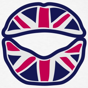 british union jack flag mouth lip Hoodies - Men's T-Shirt