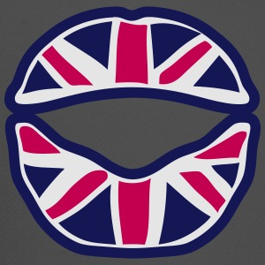 british union jack flag mouth lip T-Shirts - Trucker Cap