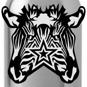 double star zebra T-Shirts - Water Bottle