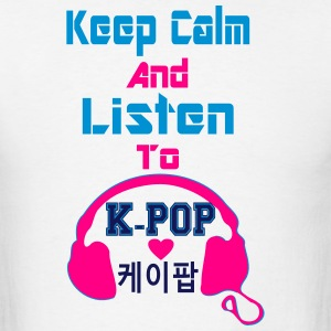 ♥♫Keep Calm&Listen to KPop Men's Tank Top♪ - Men's T-Shirt