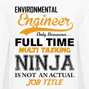 Engineer Ninja Job Title T-Shirts - Men's Premium Long Sleeve T-Shirt