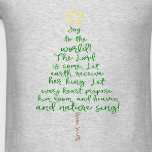 Joy To The World Child's Hoodie Sweatshirt - Grey - Men's T-Shirt