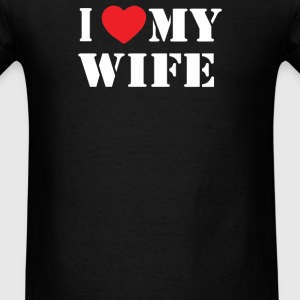 PRINTED I LOVE MY WIFE - Men's T-Shirt