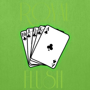 Royal flush green t shirt - Tote Bag