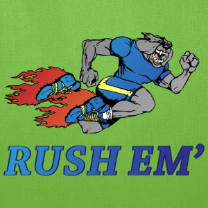 Rush Em yellow t shirt - Tote Bag