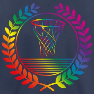 basketball basket rainbow Kids' Shirts - Toddler Premium T-Shirt