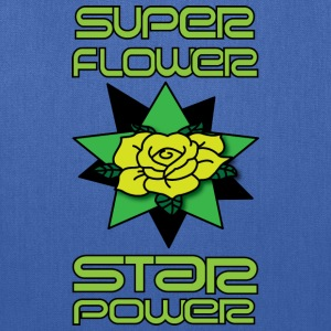 super flower star power women's cyan t shirt - Tote Bag