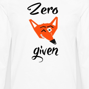 Zero Fox Given T-Shirts - Men's Premium Long Sleeve T-Shirt