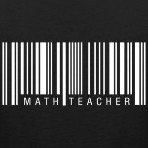 Math Teacher Barcode T-Shirts - Men's Premium Tank