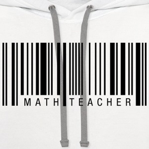 Math Teacher Barcode T-Shirts - Contrast Hoodie