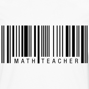 Math Teacher Barcode T-Shirts - Men's Premium Long Sleeve T-Shirt