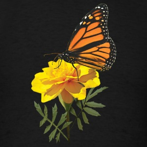 Monarch Butterfly on Marigold Long Sleeve Shirts - Men's T-Shirt