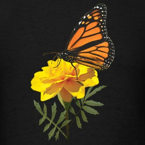 Monarch Butterfly on Marigold Baby Bodysuits - Men's T-Shirt