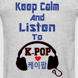 ♥♫Keep Calm&Listen to KPop Kids' Hoodie♪♥ - Men's T-Shirt