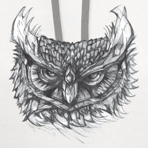 Owl Illustration T-Shirt - Contrast Hoodie