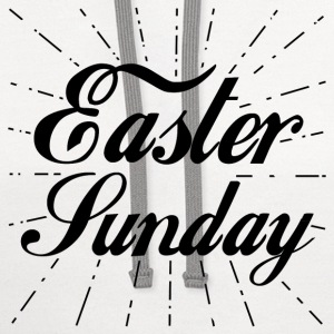 Easter,HAPPY EASTER,happy,EASTER SUNDAY - Contrast Hoodie