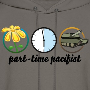 part time pacifist T-Shirts - Men's Hoodie
