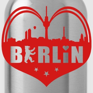 Berlin Skyline Heart T-Shirts - Water Bottle
