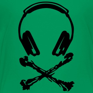 dj equalizer headphones skull bones deat Kids' Shirts - Toddler Premium T-Shirt