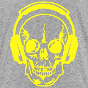 dj headphone audio equalizer death head Kids' Shirts - Toddler Premium T-Shirt