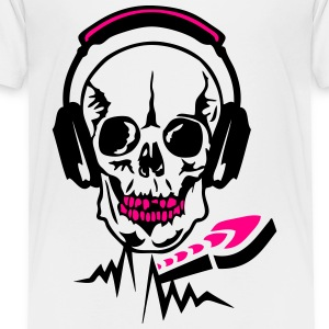 dj headphone audio skull equalizer death Kids' Shirts - Toddler Premium T-Shirt