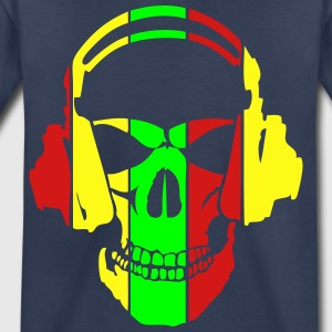 equalizer dj headphones skull head Kids' Shirts - Toddler Premium T-Shirt