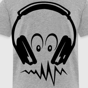 audio equalizer dj headphone music Kids' Shirts - Toddler Premium T-Shirt