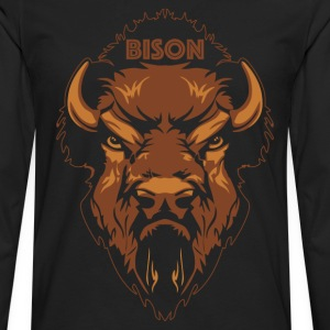 Bison T-shirt - Men's Premium Long Sleeve T-Shirt