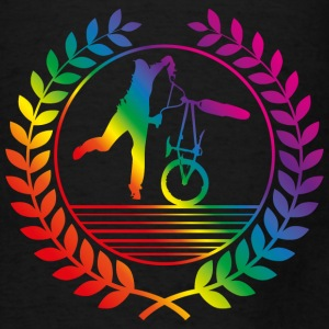 BMX Bicycle rainbow Bags & backpacks - Men's T-Shirt