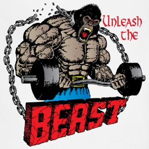 Unleash The Beast light blue t shirt - Adjustable Apron