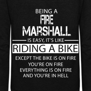 Fire Marshall T-Shirts - Unisex Fleece Zip Hoodie by American Apparel