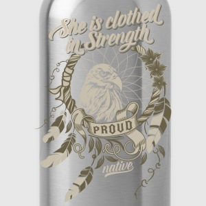 Proud Native American Hoodies - Water Bottle