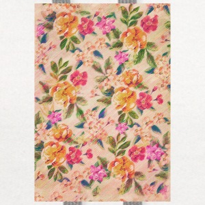Vintage Glitched Pastel Flowers - Phone Case Phone & Tablet Cases - Contrast Hoodie