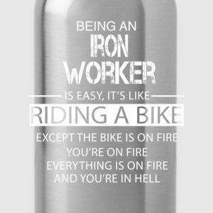 Iron Worker T-Shirts - Water Bottle