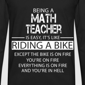 Math Teacher T-Shirts - Men's Premium Long Sleeve T-Shirt