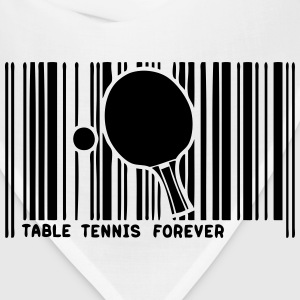 barcode table tennis racket table  Long Sleeve Shirts - Bandana