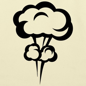 explosion mushroom cloud drawing 3023 T-Shirts - Eco-Friendly Cotton Tote