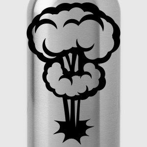 explosion mushroom cloud drawing 302 T-Shirts - Water Bottle