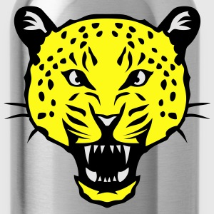 leopard head super 3024 drawing 2 T-Shirts - Water Bottle