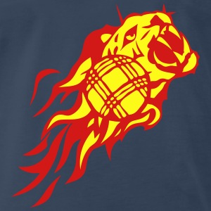 petanque flame fire tiger animal logo 302 Tanks - Men's Premium T-Shirt