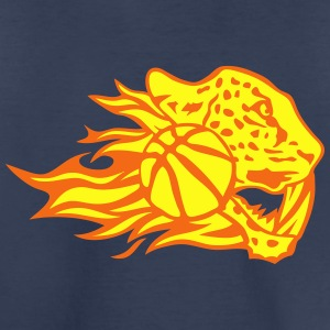 basketball fire flame logo leopard Kids' Shirts - Toddler Premium T-Shirt
