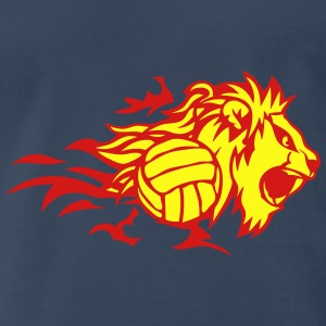 volleyball flame animal lion logo 3028_f Tanks - Men's Premium T-Shirt