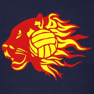 volleyball panther fire flame logo Hoodies - Men's T-Shirt