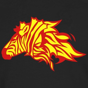 fire flame zebra animal 302 Hoodies - Men's Premium Long Sleeve T-Shirt