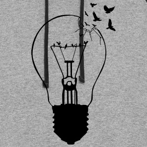 Outlaw, breaking out of the old light bulb T-Shirts - Colorblock Hoodie
