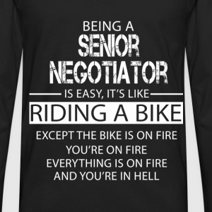 Senior Negotiator T-Shirts - Men's Premium Long Sleeve T-Shirt
