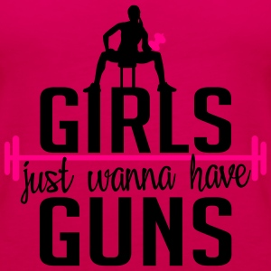 Fitness: girls just wanna have guns T-Shirts - Women's Premium Tank Top