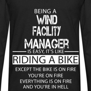Wind Facility Manager T-Shirts - Men's Premium Long Sleeve T-Shirt