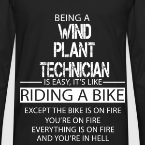 Wind Plant Technician T-Shirts - Men's Premium Long Sleeve T-Shirt