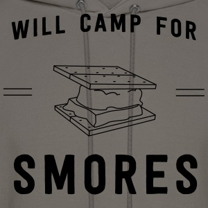 Will camp for smores T-Shirts - Men's Hoodie